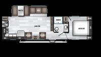 2019 Wildwood 27RKS Floor Plan