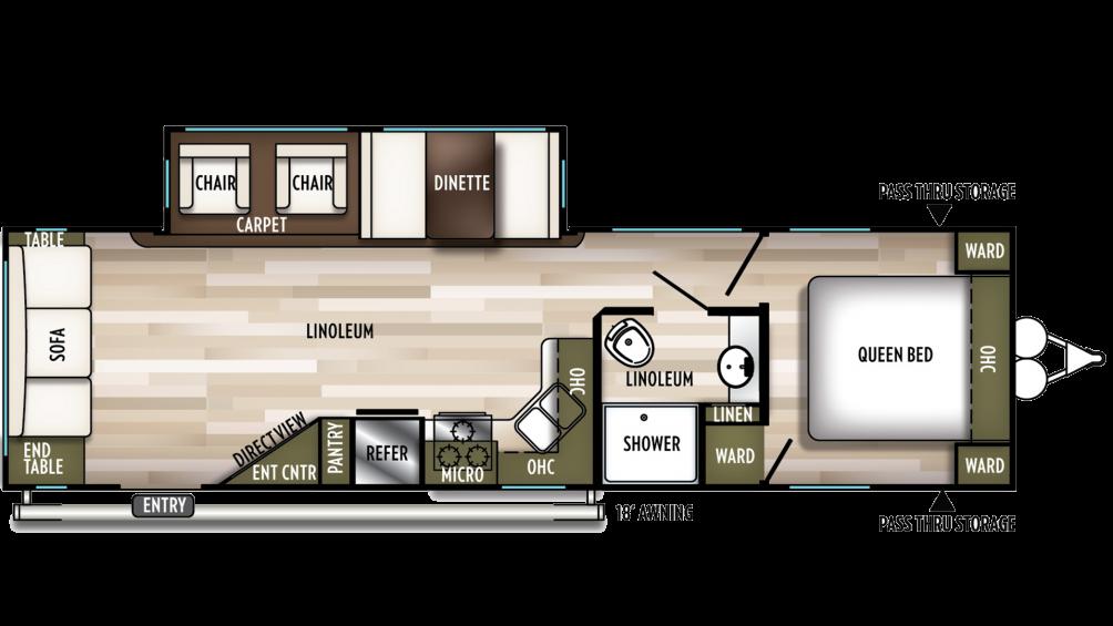 2019 Wildwood 28RLSS Floor Plan Img
