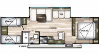 2019 Wildwood 29QBLE Floor Plan