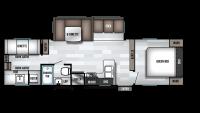 2019 Wildwood 30KQBSS Floor Plan