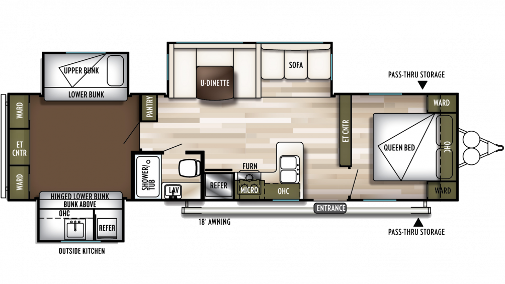2019 Wildwood 31KQBTS Floor Plan Img