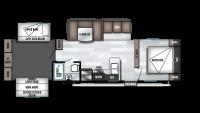 2019 Wildwood 31KQBTS Floor Plan