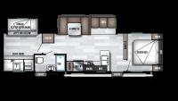 2019 Wildwood 32BHDS Floor Plan