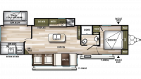 2019 Wildwood 32BHT Floor Plan