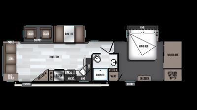 2019 Wildwood 32RLDS Floor Plan Img