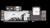 2019 Wildwood 32RLDS Floor Plan