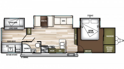 2019 Wildwood 33TS Floor Plan Img
