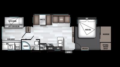 2019 Wildwood 33TS Floor Plan Img