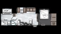 2019 Wildwood 33TS Floor Plan
