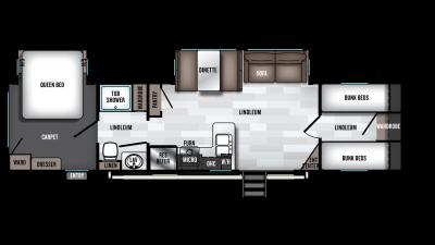 2019 Wildwood 36BHDS Floor Plan Img