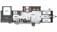 2019 Wildwood 36BHDS Floor Plan