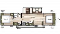 2019 Wildwood 37BHSS2Q Floor Plan