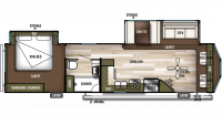 2019 Wildwood DLX 353FLFB Floor Plan
