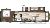 2019 Wildwood DLX 40FDEN Floor Plan