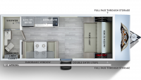 2019 Wildwood FSX 167RB Floor Plan