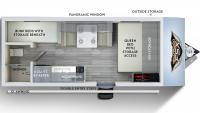 2019 Wildwood FSX 177BH Floor Plan