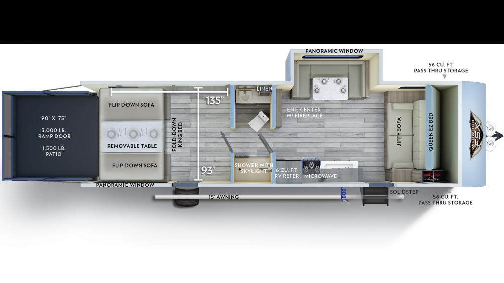 2019 Wildwood FSX 280RT Floor Plan Img