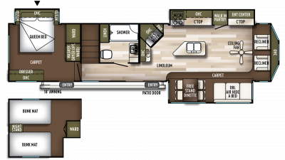 2019 Wildwood Lodge 4092BFL Floor Plan Img