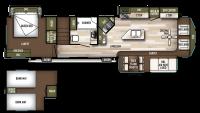 2019 Wildwood Lodge 4092BFL Floor Plan