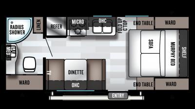 2019 Wildwood X-Lite 171RBXL Floor Plan Img