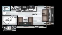 2019 Wildwood X-Lite 19DBXL Floor Plan