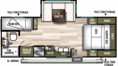 2019 Wildwood X-Lite 230BHXL Floor Plan Img