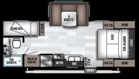 2019 Wildwood X-Lite 230BHXL Floor Plan