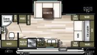 2019 Wildwood X-Lite 233RBXL Floor Plan