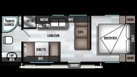 2019 Wildwood X-Lite 241QBXL Floor Plan