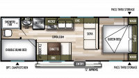 2019 Wildwood X-Lite 261BHXL Floor Plan