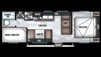 2019 Wildwood X-Lite 261BHXL Floor Plan