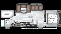 2019 Wildwood X-Lite 263BHXL Floor Plan