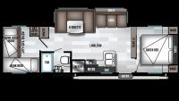 2019 Wildwood X-Lite 273QBXL Floor Plan