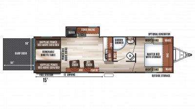 2019 Wolf Pack 23GOLD15 Floor Plan Img