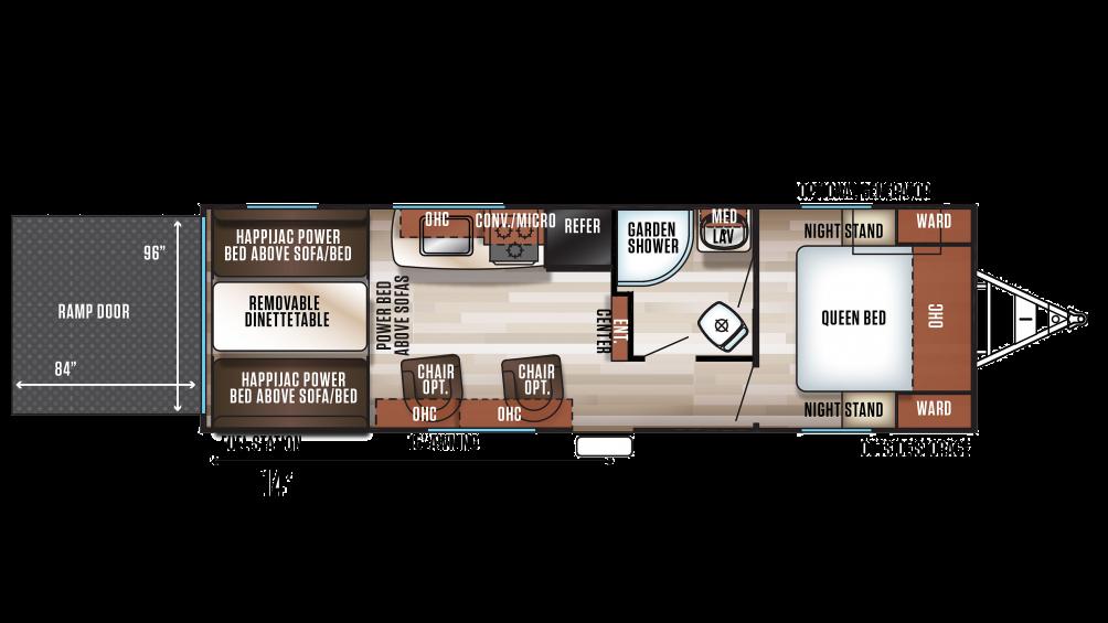 2019 Wolf Pack 24GOLD14 Floor Plan Img