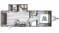 2020 Alpha Wolf 23RD-L Floor Plan