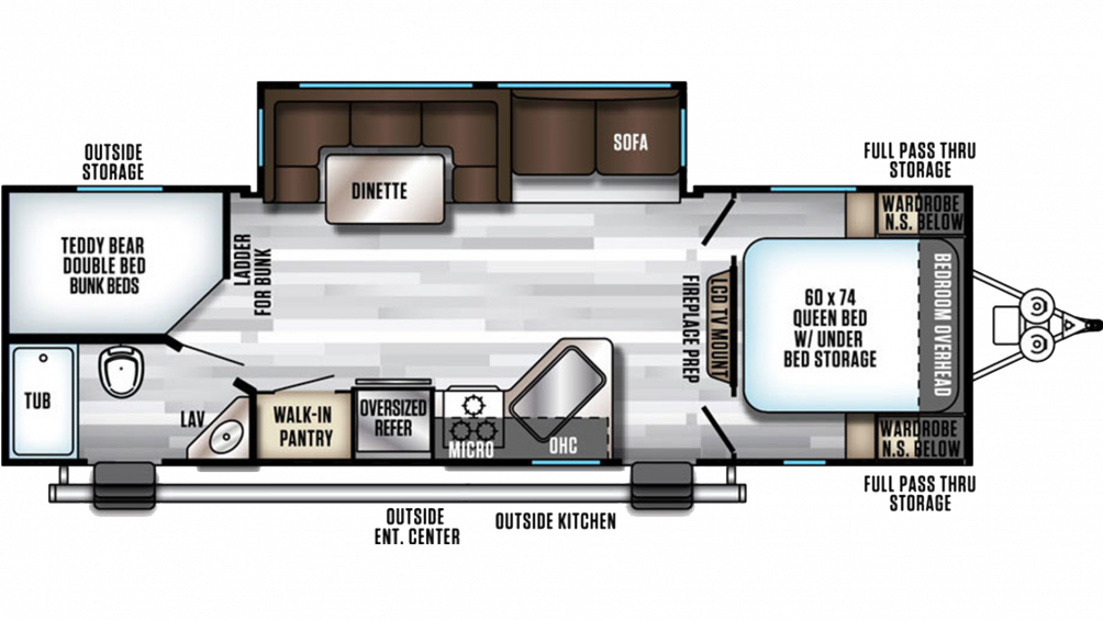 2020 Alpha Wolf 26DBH-L Floor Plan Img
