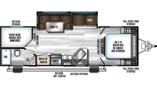 2020 Alpha Wolf 26DBH-L Floor Plan
