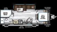 2020 Alpha Wolf 26DBH-L Floor Plan