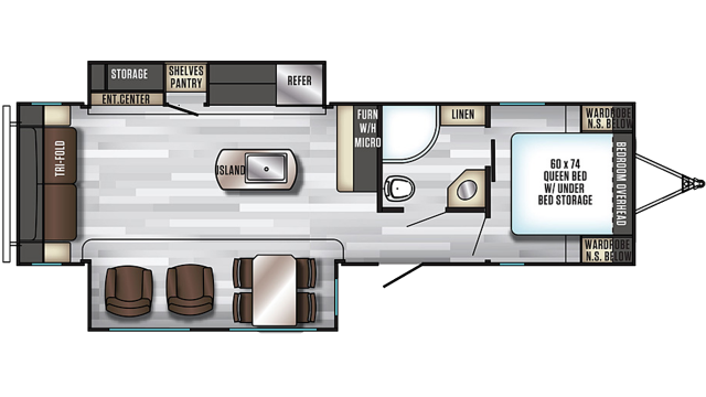 2020 Alpha Wolf 26RL-L Floor Plan