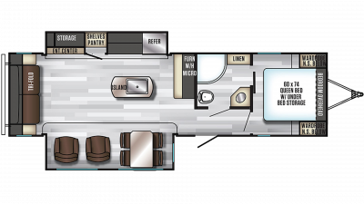 2020 Alpha Wolf 26RL-L Floor Plan Img
