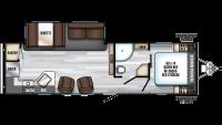 2020 Alpha Wolf 27RK-L Floor Plan