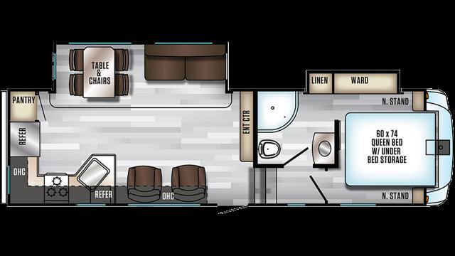 2020 Arctic Wolf 245RK4 Floor Plan
