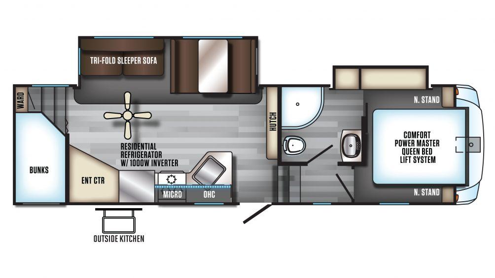 2020 Arctic Wolf 265DBH8 Floor Plan Img