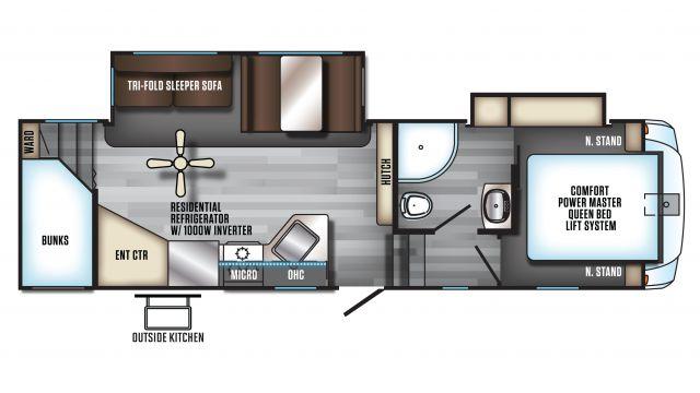 2020 Arctic Wolf 265DBH8 Floor Plan