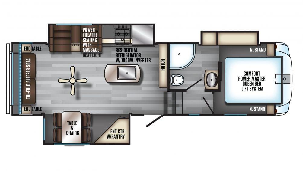 2020 Arctic Wolf 285DRL4 Floor Plan Img
