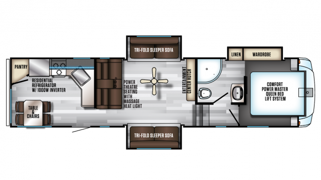 2020 Arctic Wolf 305ML6 Floor Plan