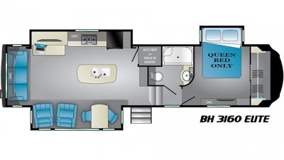 2020 Bighorn 3160EL Floor Plan Img
