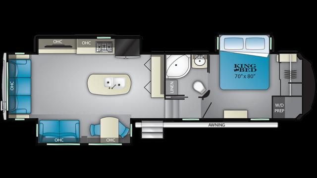 2020 Bighorn 3370EL Floor Plan