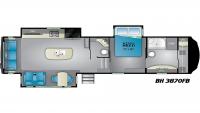 2020 Bighorn 3870FB Floor Plan